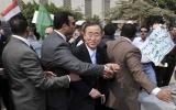 Người ủng hộ Gadhafi chặn Tổng Thư ký Liên hiệp quốc