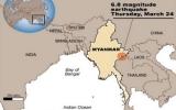 Động đất tại Myanmar, ít nhất 25 người chết