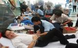 Hơn 130 người đăng ký hiến máu tình nguyện
