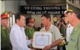 Thăng quân hàm vượt cấp cho chiến sĩ công an hy sinh