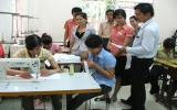 Tặng quà trung thu cho Trung tâm Dạy nghề người tàn tật tỉnh