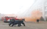Ban Quản lý KCN VSIP thực tập phương án chữa cháy, cứu nạn