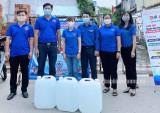 Đoàn Thanh niên các đơn vị trao hỗ trợ công tác phòng dịch bệnh