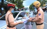 TX.Bến Cát: Bảo đảm an toàn giao thông gắn với phòng, chống dịch bệnh
