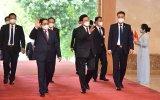 范明正总理会见老挝人民革命党中央总书记、国家主席通伦·西苏里