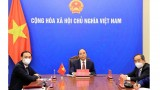 国家主席阮春福通过视频会见韩越友好协会主席