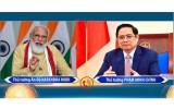 越南政府总理范明正与印度总理莫迪通电话