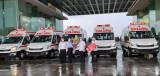 Tiếp nhận thêm 5 xe cứu thương từ Công ty Cổ phần Thương mại Sản xuất Xây dựng Hưng Thịnh