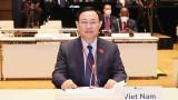 国会主席王廷惠出席第五次世界议长大会开幕式