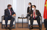 NA Chairman receives leaders of economic groups in Belgium