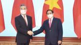范明正总理会见中国国务委员兼外交部长王毅