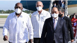 越南国家主席阮春福抵达哈瓦那 开始对古巴进行正式访问