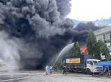 Xảy ra cháy tại công ty sản xuất mút xốp