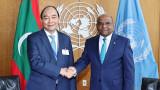 越南国家主席阮春福会见第76届联合国大会主席和联合国秘书长