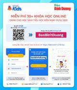 """Nhập mã """"BaoBinhDuong"""" để học online miễn phí học kỳ 1 năm học 2021-2022"""