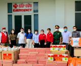 Hội Chữ thập đỏ tỉnh thăm, tặng quà lực lượng tuyến đầu chống dịch