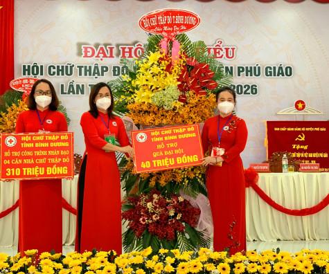 Đại hội đại biểu Hội Chữ thập đỏ Việt Nam huyện Phú Giáo lần thứ V, nhiệm kỳ 2021 - 2026